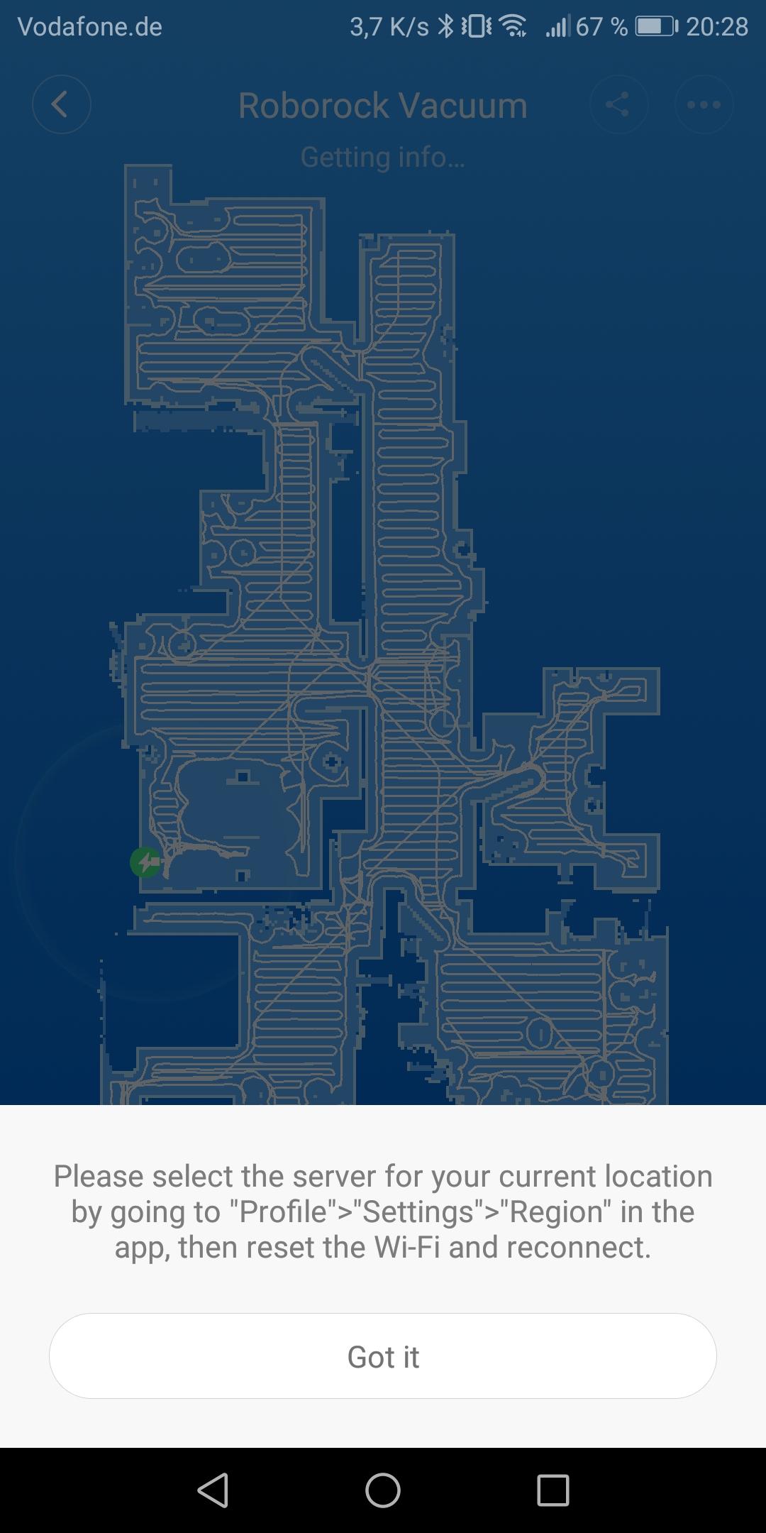 Roborock S50 Reset Wifi