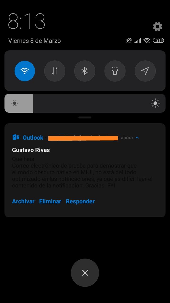 Invalid - Dark mode notifications  | Xiaomi European Community
