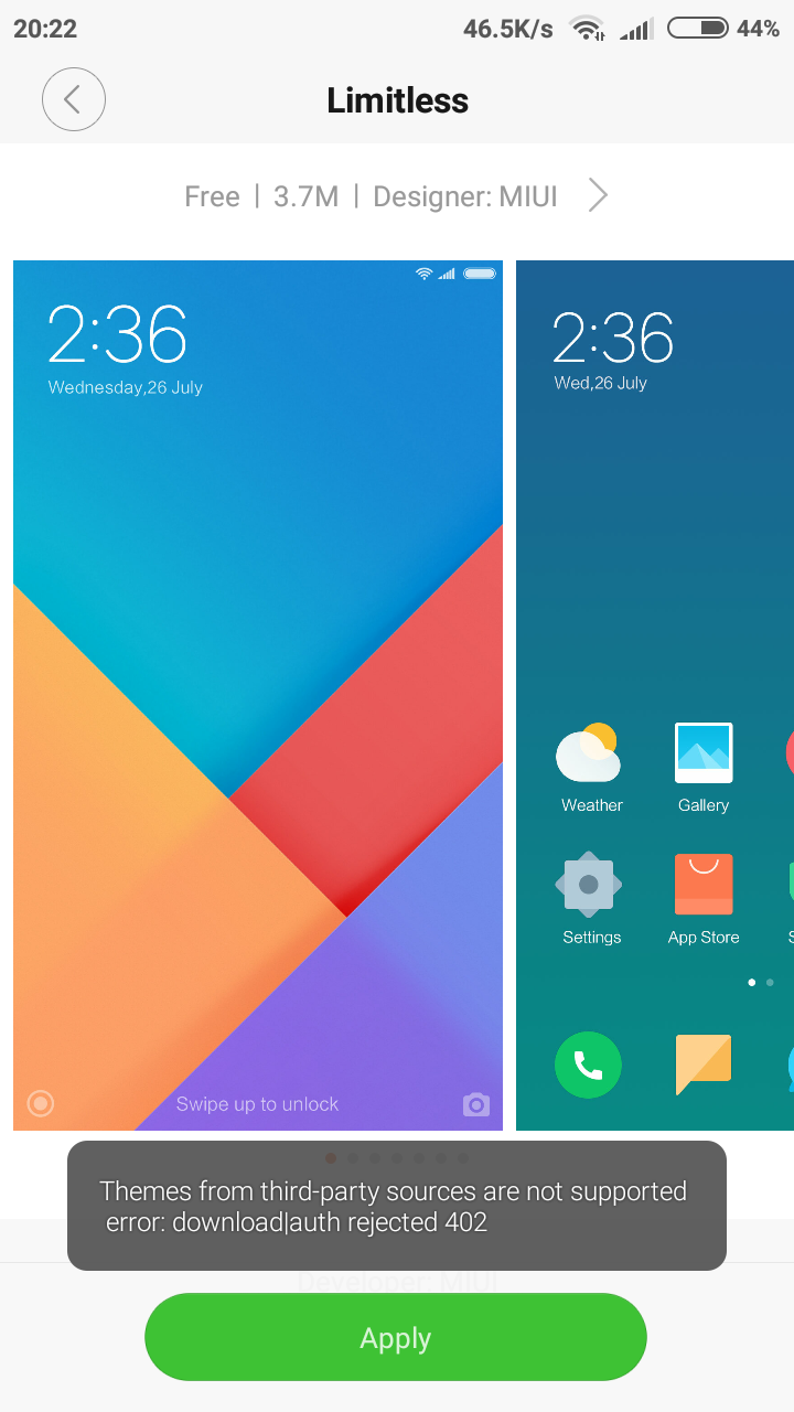 solved With 7 11 9] Can't Apply Limitless Theme | Xiaomi