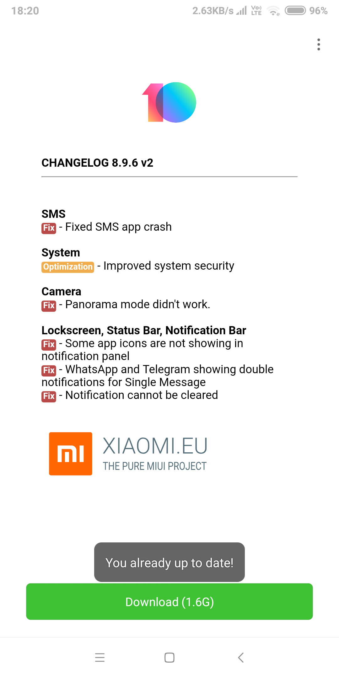 Need help  Cannot update from 8 8 3 miui 10 to 8 9 6   Xiaomi