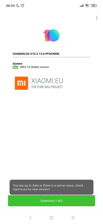 Ota issues   Xiaomi European Community