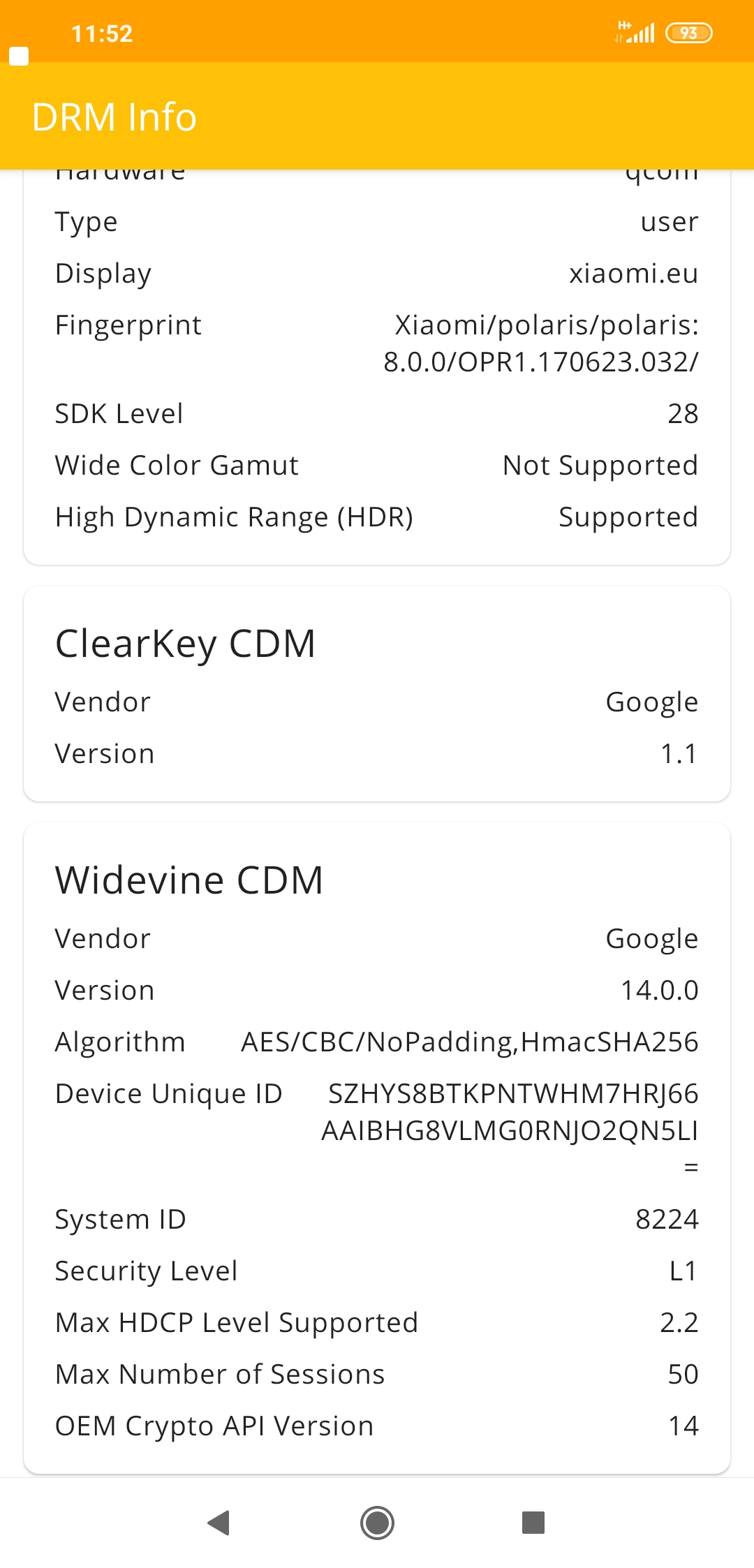 Invalid - Widevine L1 changes to L3 after installing xiaomi eu rom