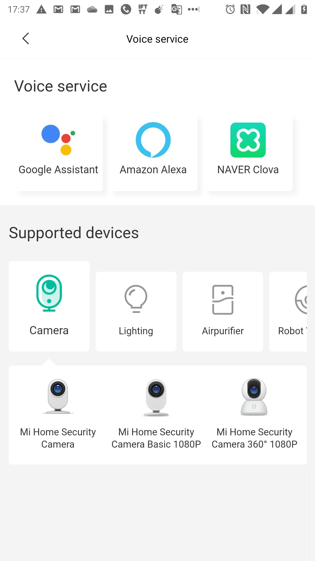 Google Home and IMI Home Security Camera 1080P Global
