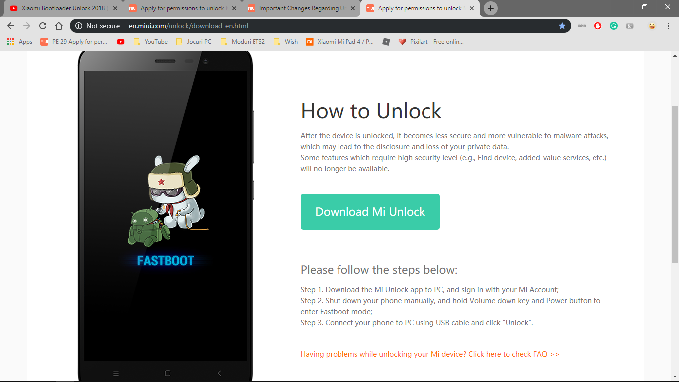 Bootloader Unlock Download Error | Xiaomi European Community
