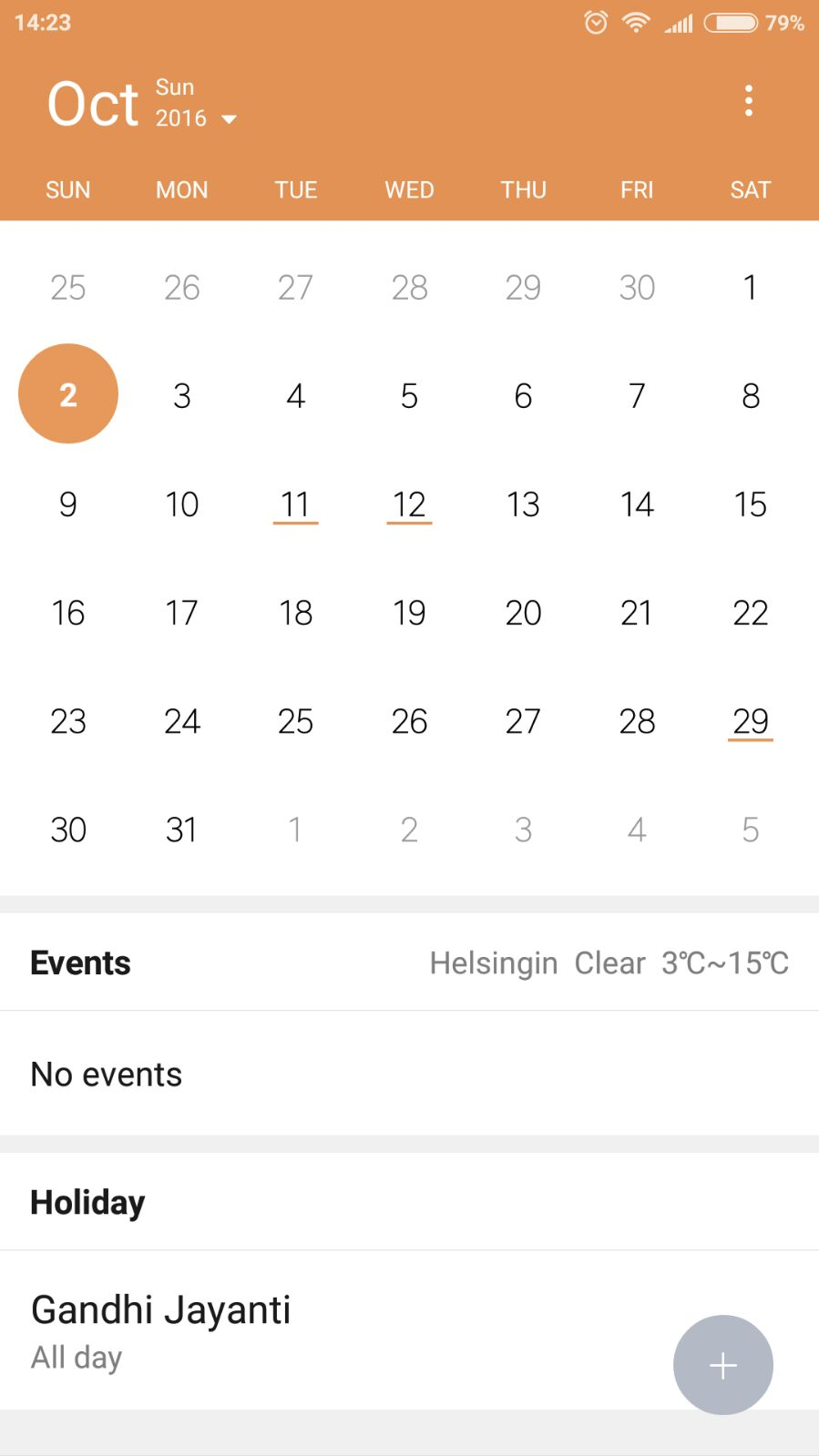 New - Redmi Note 3 Sd And Mtk | Calendar Holiday Bug