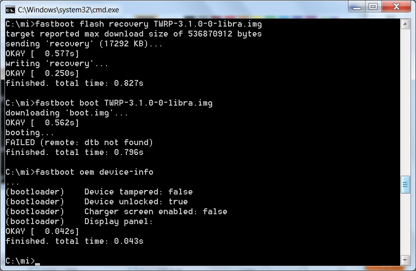 Failed (remote: Dtb Not Found) In Cmd Fastboot Boot Twrp img