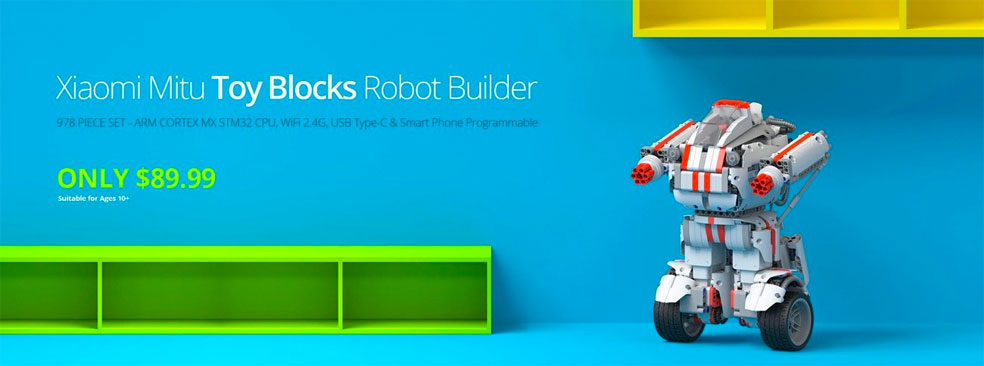 Xiaomi Mitu Toy Blocks Robot Builder (978 Piece Set)