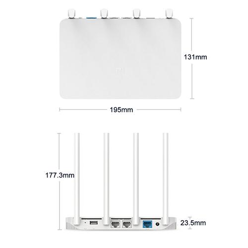 Xiaomi Router 3 128MB SLC NAND Memory MT7620A CPU WiFi 2.4G/5G 1167Mbps x4 Antenna